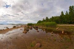 Paisaje hermoso del lago Imagen de archivo libre de regalías