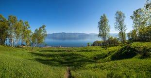 Paisaje hermoso del lago Baikal Fotografía de archivo libre de regalías