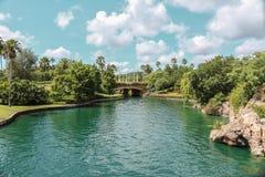 Paisaje hermoso del lago en un parque fotos de archivo