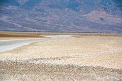 Paisaje hermoso del lavabo de Badwater, Death Valley Imagen de archivo