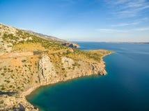 Paisaje hermoso del mar de Dalmacia, Croacia Foto de archivo libre de regalías