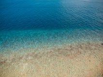 Paisaje hermoso del mar de la visión superior para el fondo Fotografía de archivo libre de regalías