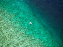 Paisaje hermoso del mar de la visión superior para el fondo Fotos de archivo libres de regalías
