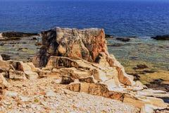 Paisaje hermoso del mar en Grecia Imagenes de archivo