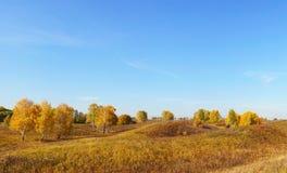 Paisaje hermoso del otoño en las colinas Fotos de archivo libres de regalías