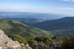 Paisaje hermoso del parque nacional de Shenandoah imagenes de archivo