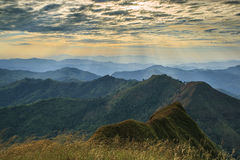 Paisaje hermoso del verano en la montaña. Imagenes de archivo