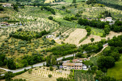 paisaje hermoso en Assisi Imagenes de archivo