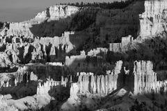 Paisaje hermoso en el barranco de Bryce con forma de piedra magnífico Fotos de archivo libres de regalías