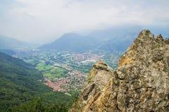 Paisaje hermoso en el soporte Pirchiriano, Italia Fotografía de archivo libre de regalías