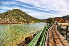 Paisaje hermoso en Florianopolis, Santa Catarina, el Brasil Imagen de archivo