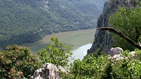Paisaje hermoso en la garganta de Danubio metrajes