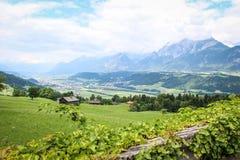 Paisaje hermoso en las montañas austríacas Fotografía de archivo