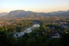 Paisaje hermoso en Luang Prabang Imagen de archivo libre de regalías