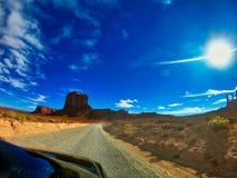 Paisaje hermoso en Am?rica, barranco del gran y skys azules fotografía de archivo
