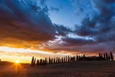 Paisaje hermoso en Toscana Foto de archivo
