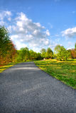 Paisaje hermoso en un parque fotografía de archivo