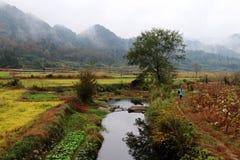 Paisaje hermoso en Wuyuan, Jiangxi foto de archivo libre de regalías