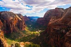 Paisaje hermoso en Zion National Park, Utah Imagen de archivo
