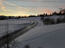Paisaje hermoso Nevado de Austria Imagen de archivo libre de regalías