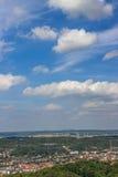 Paisaje hermoso Visión desde el castillo de Wartburg Eisenach, Alemania Fotos de archivo