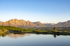 Paisaje hermoso Winelands, Suráfrica Foto de archivo