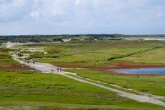 Paisaje Holanda de la isla de Texel imagen de archivo libre de regalías