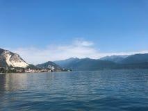 Paisaje idílico de Maggiore del lago Imágenes de archivo libres de regalías