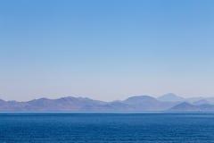 Paisaje idílico del mar Fotos de archivo libres de regalías
