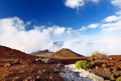Paisaje imponente del área tomada de la cumbre, Maui, Hawaii del volcán de Haleakala Foto de archivo libre de regalías