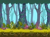 Paisaje inconsútil del bosque de la primavera ilustración del vector