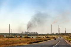 Paisaje industrial de la ciudad imagen de archivo libre de regalías