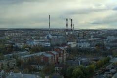 Paisaje industrial de la ciudad fotografía de archivo libre de regalías