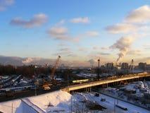 Paisaje industrial de la ciudad Foto de archivo libre de regalías