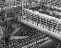 Paisaje industrial oxidado imagen de archivo