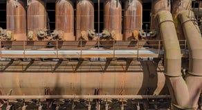 Paisaje industrial oxidado fotografía de archivo