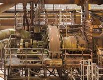 Paisaje industrial oxidado foto de archivo libre de regalías
