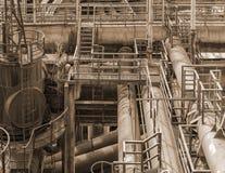 Paisaje industrial oxidado foto de archivo