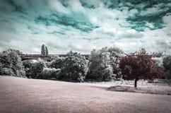 Paisaje infrarrojo Fotografía de archivo