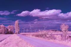 Paisaje infrarrojo Fotografía de archivo libre de regalías