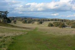 Paisaje inglés del parkland Foto de archivo libre de regalías
