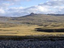 paisaje inhospitalario de Stanley Island, Falkland Islands - Malvinas foto de archivo libre de regalías