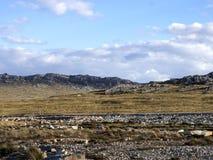 paisaje inhospitalario de Stanley Island, Falkland Islands - Malvinas fotografía de archivo