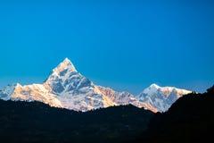 Paisaje inspirado de las montañas, Himalaya Nepal Imágenes de archivo libres de regalías