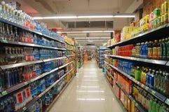 Paisaje interior del supermercado foto de archivo libre de regalías