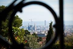 Paisaje inusual de Barcelona España imágenes de archivo libres de regalías