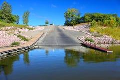 Paisaje Iowa del lago Saylorville Fotos de archivo