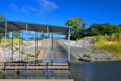 Paisaje Iowa del lago Saylorville fotos de archivo libres de regalías