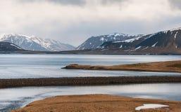 Paisaje islandés de la montaña Imagen de archivo libre de regalías