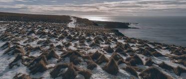Paisaje islandés Grimsey Fotos de archivo libres de regalías